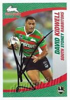 ✺Signed✺ 2008 SOUTH SYDNEY RABBITOHS NRL Card DAVID KIDWELL Daily Telegraph