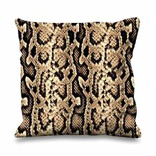 Snakeskin Pattern Faux Silk 45cm x 45cm Sofa Cushion