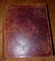 The Holy Bible 1852 Hard Leather Back Book Buffalo Published by Phinney & Co.