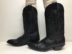 VTG WOMENS NOCONA COWBOY BLACK BOOTS SIZE 7.5 B
