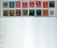 us scott # 246-260 partial set (15) stamps vf used 1894 uwm