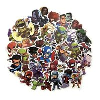 50 Pcs/Lot Stickers Avengers Super Hero  For Car Laptop Luggage Skatboard Decal