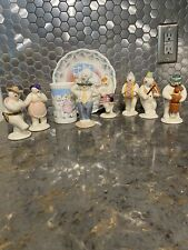 Royal Doulton Snowman Figurines Sold As A Group