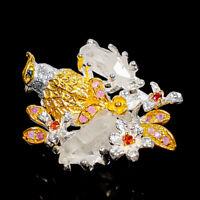 Quartz Ring Silver 925 Sterling Fine Art Jewelry Size 8 /R134279