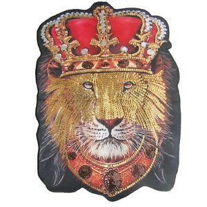 Large Size Lion Face Sew On Patch Quality Motif Patches Badge 44cm x 32cm P134