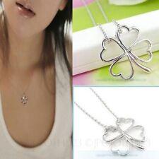 Alloy Flowers Plants Heart Costume Necklaces & Pendants