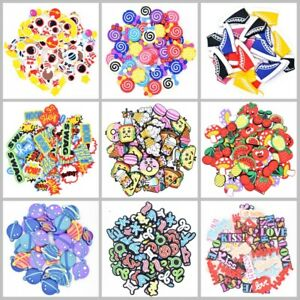 100pcs 142 Varied Serials Shoe Charms fit Shoe Ornaments Money Words Food Animal