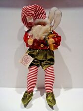 """Rare Vintage 14"""" Tall Mark Roberts Stars Candy Cane Stripe Christmas Fairy Wings"""