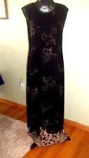 Christopher & Banks Sleeveless Long Dress-Casual, size 8-black & tan