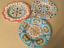 3 Williams Sonoma Melamine Salad Plates, New, Mixed Patterns