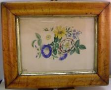 FLOWERS A POSY WITHIN A MAPLE FRAME FRANCES COGDON W/COL ENGLISH SCHOOL 1833