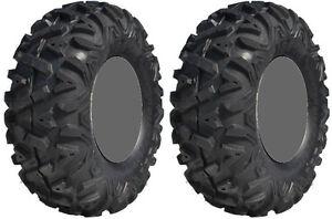 Pair 2 GBC Dirt Tamer 25x9-12 ATV Tire Set 25x9x12 25-9-12