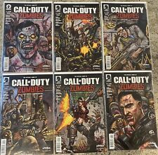 Call Of Duty Zombies Comics 1-6 Complete First Print Rare Very Good Dark Horse