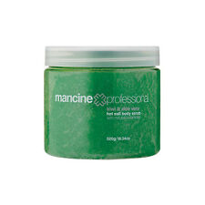 MANCINE Hot Salt BODY SCRUB Sea Salts Exfoliate KIWI & ALOE VERA - 520g