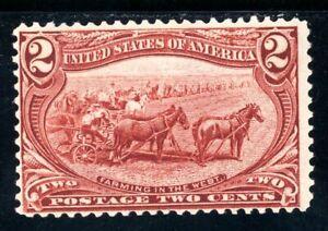 USAstamps Unused FVF US 1898 Trans-Mississippi Farming Scott 286 OG MNH