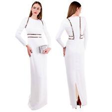 RRP €1940 ALEXANDER WANG Column Wedding Dress Size 4 / S Grommet Inserts