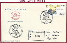 ITALIA FDC CAVALLINO ITALA IN CORSA RAID PECHINO PARIGI AMSTERDAM 1989 ROMA U802