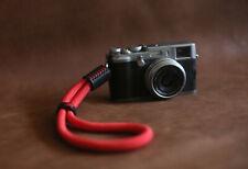 Red soft climbing rope 10mm handmade camera wrist strap black | Windmup