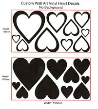 Hearts x 20 Removable Wall Art Vinyl Sticker Decals Assorted Sizes(#054)