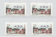 Macau 2015 Old streets and Alleys ATM Frama Label Nagler set of 4 stamp
