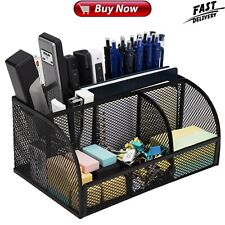 Office Desk Organizer Mesh Supplies Accessories with 7 Compartments Drawer
