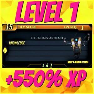 (XBOX/PC) Borderlands 3 ❗MODDED❗ LVL 1 +550% XP Artifact ✨ Guardian Rank up