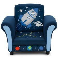 Delta Children Space Adventures Kids Upholstered Chair, Galaxy Themed, Blue