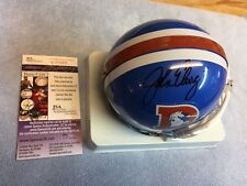 John Elway Signed Denver Broncos Throwback  Mini Helmet JSA/COA