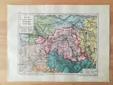 Oberamt Nürtingen Bauser Hand-Atlas KARTE von 1885 Grötzingen Neuffen Hardt