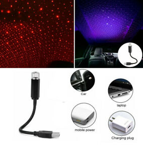 USB LED Car Roof Atmosphere Star Lamp Ambient Night Lights Interior Projector UK