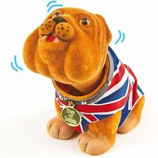 British Nodding Dog Bulldog UK Union Jack Waist Coat Souvenir Car Dashboard Bull