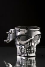 Skull Face Motorcycle Cup Holder Kruzer Kaddy Chrome Brake Clutch Perch Mount