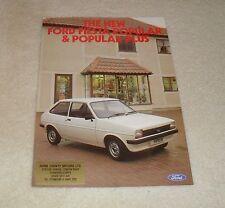 Ford fiesta popular & popular folleto Plus 1980 - 950cc y 1100cc