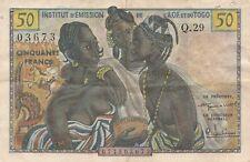 Billet de 50 francs Institut D'émission de L'A.O.F. et du TOGO