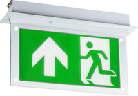 NEW Knightsbridge LED 2W White Recessed 3HR Maintained Emergency Sign Exit Light