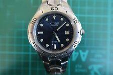 Caballeros ciudadano 2510 Calendario Cuarzo Reloj de acero 100m trabaja.