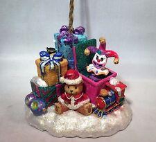 Christopher Radko Christmas Ornament Holder Hanger Santa Claus Jack-In-The-Box
