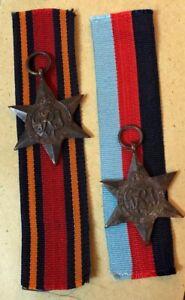 PAIR OF ORIGINAL WW2 BRITISH CAMPAIGN MEDAL 1939-45+BURMA STAR WITH RIBBON