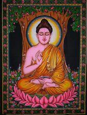 ARAZZO BATIK BUDDHA DESIGN YOGA INDU MEDITAZIONE QUADRO ETNICO INDIA  CM 105x75