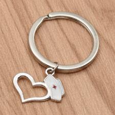 Krankenschwester Haube Anhänger Schlüsselanhänger Herz Schlüssel Ring Key Chain