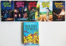 ENID BLYTON 6 book lot SECRET SEVEN books 5 & 6 & 8 & 10 & 11 & HOLIDAY STORIES