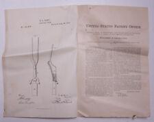 Pre-1919 Patent Notice GL Hart Carving Fork #181675 1876 JD Frary Ephemera L926C