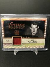 2017 In The Game Used Bill Gadsby Vintage Memorabila Jersey 5/9!