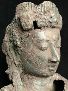 Massive ancient torso fragment of a Javanese or Srivijaya Bodhisattva 8th-9th c