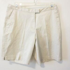 Adidas Women's Stretch Khaki Chino Long Bermuda Shorts - Golf Walking - Size 14