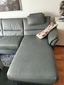 Couch, NP 3500€,U-Form, Leder, Grau, Inkl. 2elektrische Relaxliegen,2 Jahre Jung