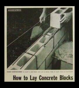 Lay CONCRETE BLOCKS  How-To INFO Cement Block building