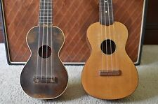 Pair of Vintage Project Junker Soprano Ukuleles for repair, parts luthier