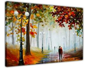 AT54378D Foggy Morning Park By Leonid Afremov Canvas Wall Art Prints Abstract