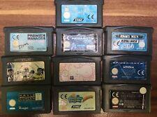 Gameboy Advance Spielesammlung 10 Spiele Batman, Spider-Man 2, Spongebob usw
